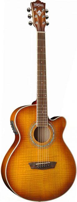 Washburn Festival EA15 Mini Jumbo Cutaway, Acoustic Electric Guitar