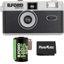 Ilford Sprite 35-II Camera Black & Silver + HP5 Plus B&W Film 35mm 24 Exposures