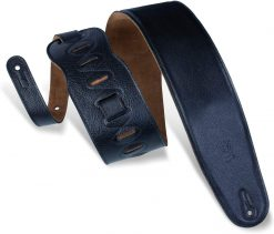"""Levy's Leathers 3 1/2"""" Wide Black Garment Leather Bass Strap"""