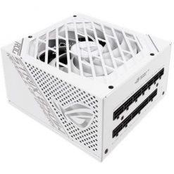 ASUS ROG Strix 850W White Edition PSU, Power Supply (ROG heatsinks, Axial-tech Fan Design, Dual Ball Fan Bearings, 0dB Technology, 80 Plus Gold Certification, Fully Modular Cables, 10-Year Warranty)