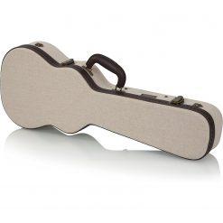 Gator GWJMUKETEN Deluxe Wood Case for Tenor Style Ukulele; Journeyman Burlap Exterior