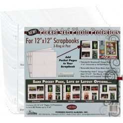 """Pioneer Photo Album 12""""X12"""" Protectors With 4""""X6"""" Photo Pockets Refill"""